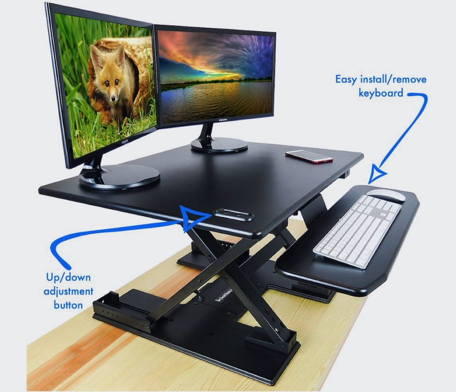 Electric DeskRiser Keyboard Tray