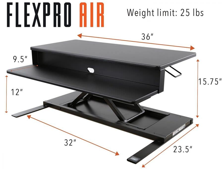 stand steady flexpro air standing desk converter