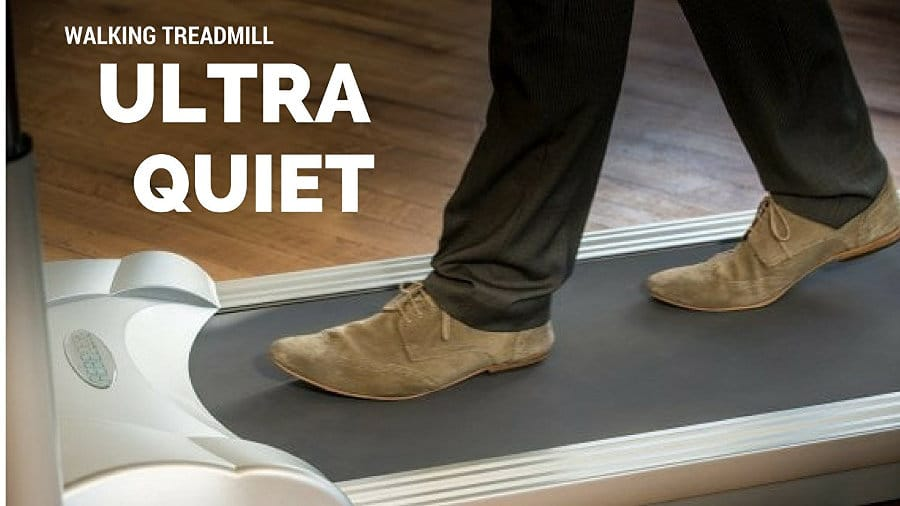 Quiet treadmill desk