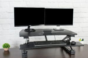 Vivo electric standing desk converter