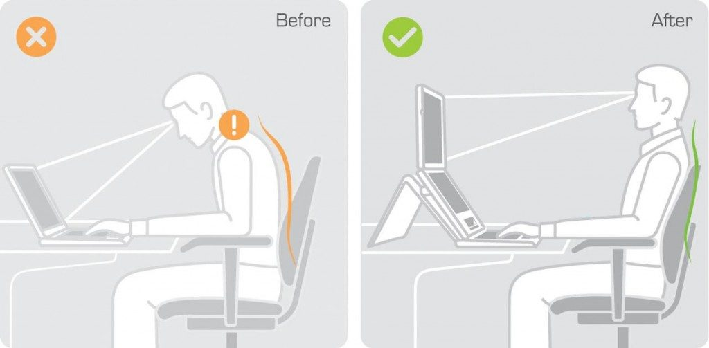 Ergonomic laptop posture