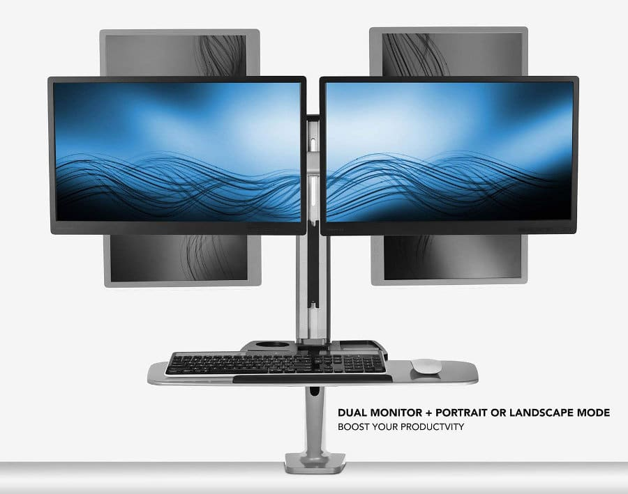 Mount It! Monitor Stand Workstation