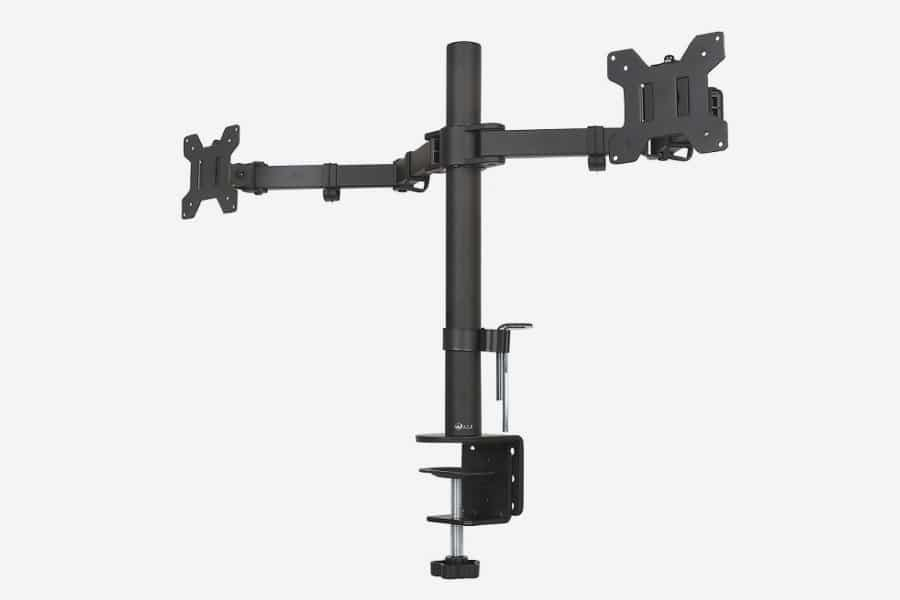 WALI dual monitor arm pole mount