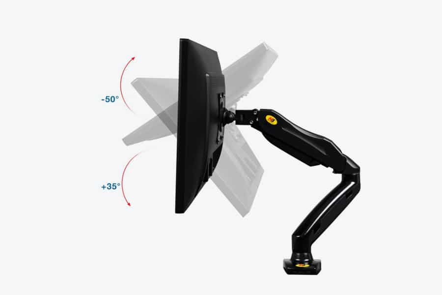 North Bayou Single Monitor Adjustable arm