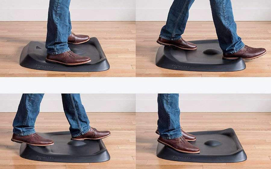 Topo standing mat allows you to stretch