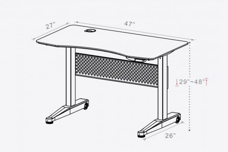 AirDesk size and shape