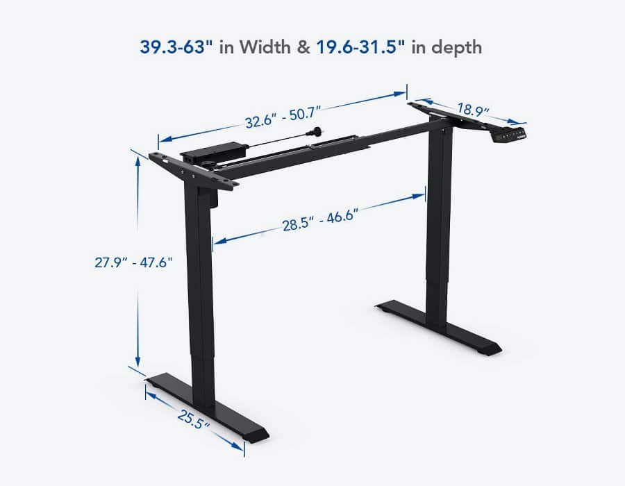 FlexiSpot frame specifications