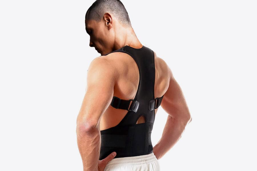 Back brace for lumbar support