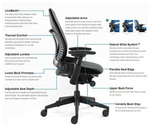Office chair ergonomic features