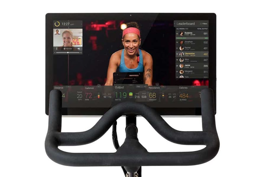 Peloton spin bike screen